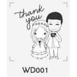 ตราปั๊มงานแต่ง WD001 - 3*3 ซม.