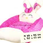 ที่นอนสุนัข เบาะกระต่าย สีชมพู ไซส์ L