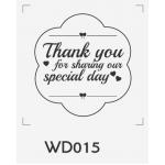 ตราปั๊มงานแต่ง WD015 - 3*3 ซม.