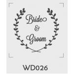 ตราปั๊มงานแต่ง WD026 - 3*3 ซม.