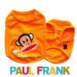 เสื้อกล้ามหมา Paul Frank สีส้ม ไซส์ 4