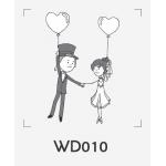 ตราปั๊มงานแต่ง WD010 - 3*3 ซม.