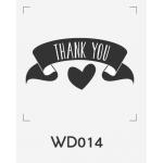 ตราปั๊มงานแต่ง WD014 - 3*3 ซม.