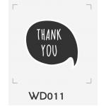 ตราปั๊มงานแต่ง WD011 - 3*3 ซม.