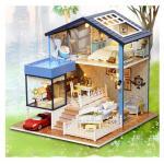 DIY Seatle Miniature Dollhouse บ้านตุ๊กตา เปิดไฟได้ มีกล่องดนตรี