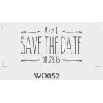 ตราปั๊มงานแต่ง WD052 - 3*3 ซม.