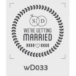 ตราปั๊มงานแต่ง WD033 - 3*3 ซม.