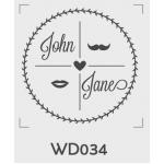 ตราปั๊มงานแต่ง WD034 - 3*3 ซม.