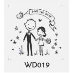 ตราปั๊มงานแต่ง WD019 - 3*3 ซม.