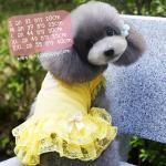 ชุดกระโปรงสุนัข Sweet Yellow ไซส์ XL