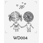 ตราปั๊มงานแต่ง WD004 - 3*3 ซม.
