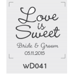 ตราปั๊มงานแต่ง WD041 - 3*3 ซม.