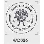 ตราปั๊มงานแต่ง WD036 - 3*3 ซม.
