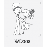 ตราปั๊มงานแต่ง WD008 - 3*3 ซม.