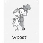 ตราปั๊มงานแต่ง WD007 - 3*3 ซม.