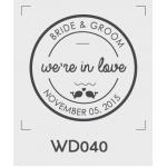 ตราปั๊มงานแต่ง WD040 - 3*3 ซม.