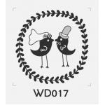 ตราปั๊มงานแต่ง WD017 - 3*3 ซม.