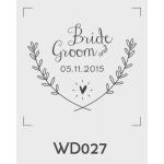 ตราปั๊มงานแต่ง WD027 - 3*3 ซม.