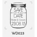 ตราปั๊มงานแต่ง WD023 - 3*3 ซม.