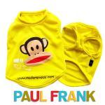 เสื้อกล้ามหมา Paul Frank สีเหลือง ไซส์ 2