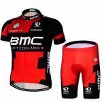 ชุดแขนสั้นปั่นจักรยานลายทีม BMC S8 กางเกงเป้าเจล