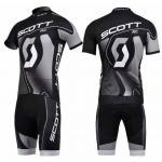 ชุดปั่นจักรยานแขนสั้นลายทีม SCOTT S35 กางเกงเป้าเจล