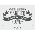 ตราปั๊มงานแต่ง WD042 - 3*3 ซม.