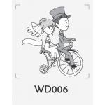 ตราปั๊มงานแต่ง WD006 - 3*3 ซม.