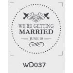 ตราปั๊มงานแต่ง WD037 - 3*3 ซม.