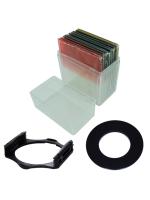 Box Set 10 Peices Square Filter ชุดฟิลเตอร์สี่เหลี่ยม 10 แผ่น + กล่องใส่ฟิลเตอร์ + Holder + แหวน