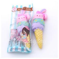 Squishy Bunny's Cafe สกุชชี่ไอศกรีม โคนกระต่าย สุดน่ารัก หอม นุ่ม สโลว์