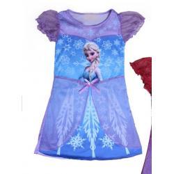 ชุดเดรสเจ้าหญิง Elsa - Size L รอบอก 28 นิ้ว