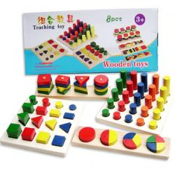 Wooden Teaching Toys 8 แบบ (2Y+)
