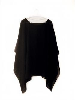 Handkerchief Chiffon Blouse Size 50 สีดำ