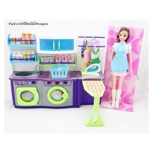เซทห้องซักรีด บาร์บี้ มีไฟมีเสียง พร้อมตุ๊กตา 1 ตัว