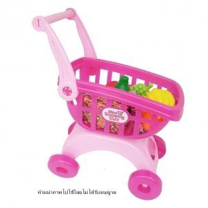 Mini Shopping Cart พร้อมอุปกรณ์ 18 ชิ้น (สีชมพู)