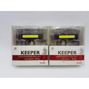 ไฟ KEEPER สีขาวชาร์จ USB 2 อัน