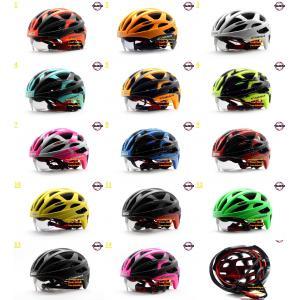 หมวกกันน็อคจักรยาน cigna aerow 02 มีแว่นในตัว