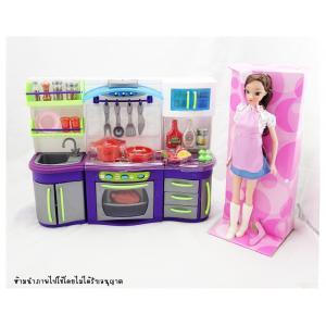 เซทห้องครัวบาร์บี้ มีไฟมีเสียง พร้อมตุ๊กตา 1 ตัว