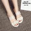 รองเท้าแตะแฟชั่นทำจากซิลิโคนนิ่มแต่งดอกไม้น่ารัก