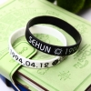 ริสแบนด์คู่ EXO - SEHUN (ขาว - ดำ)