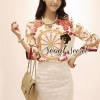 D&G Style Set Blouse Print with Lace Skirt by Seoul Secret