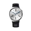 Huawei Watch หน้าปัดเงิน สายหนังสีดำถัก