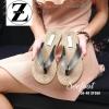 รองเท้าแตะแบรนด์ ZARA ตีโลโก้ที่พื้นรองเท้าใส่สบายมาก