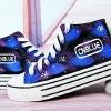รองเท้าผ้าใบเรืองแสง CN BLUE