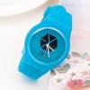 นาฬิกาหน้าปัด EXO สีฟ้า
