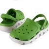 รองเท้า CROCS รุ่น DUET SPORT CLOG สีเขียวพื้นขาว