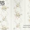 วอลเปเปอร์ลายทางดอกไม้ สไตล์วินเทจ CHA4-M23