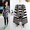 Sevy Korean Knit Striped Cardigan Jacket