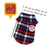 เสื้อเชิ๊ตน้องหมา ลายสก๊อต Paul Frank สีแดง-น้ำเงิน พร้อมส่ง